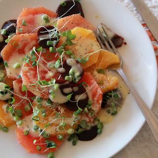 Citrus Beet Salad with Creamy Poppyseed Dressing
