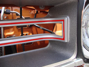 Photo: Grille is sweet! correct finish but no black out behind the grille , Notice Hemi only transmission cooler