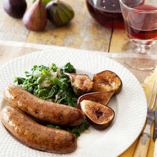 Maple-Glazed Sausages and Figs.