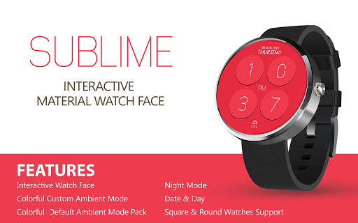 SUBLIME Material Watch Face