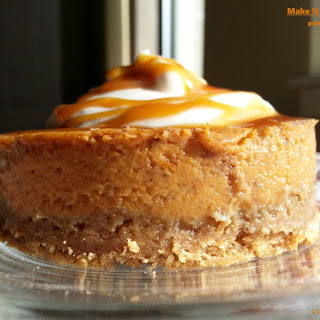 Pumpkin Pie with Nutmeg Whipped Cream and Caramel Drizzle