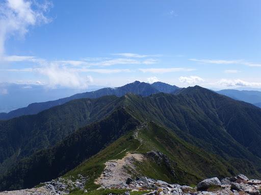 島田娘から空木岳方面
