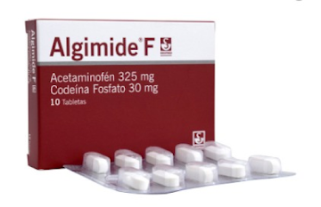 Algimide F 325/30Mg   Tabletas Caja X10Tab. Sie Acetaminofén Codeína