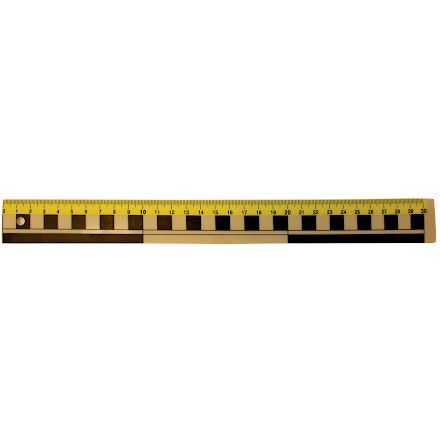 Linjal plast 30cm mm/cm/dm