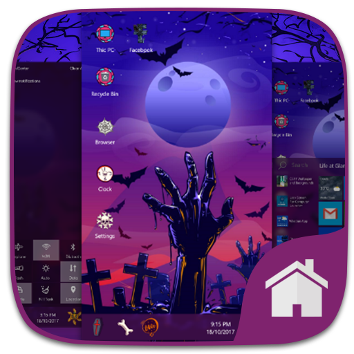Halloween Theme For Computer Launcher