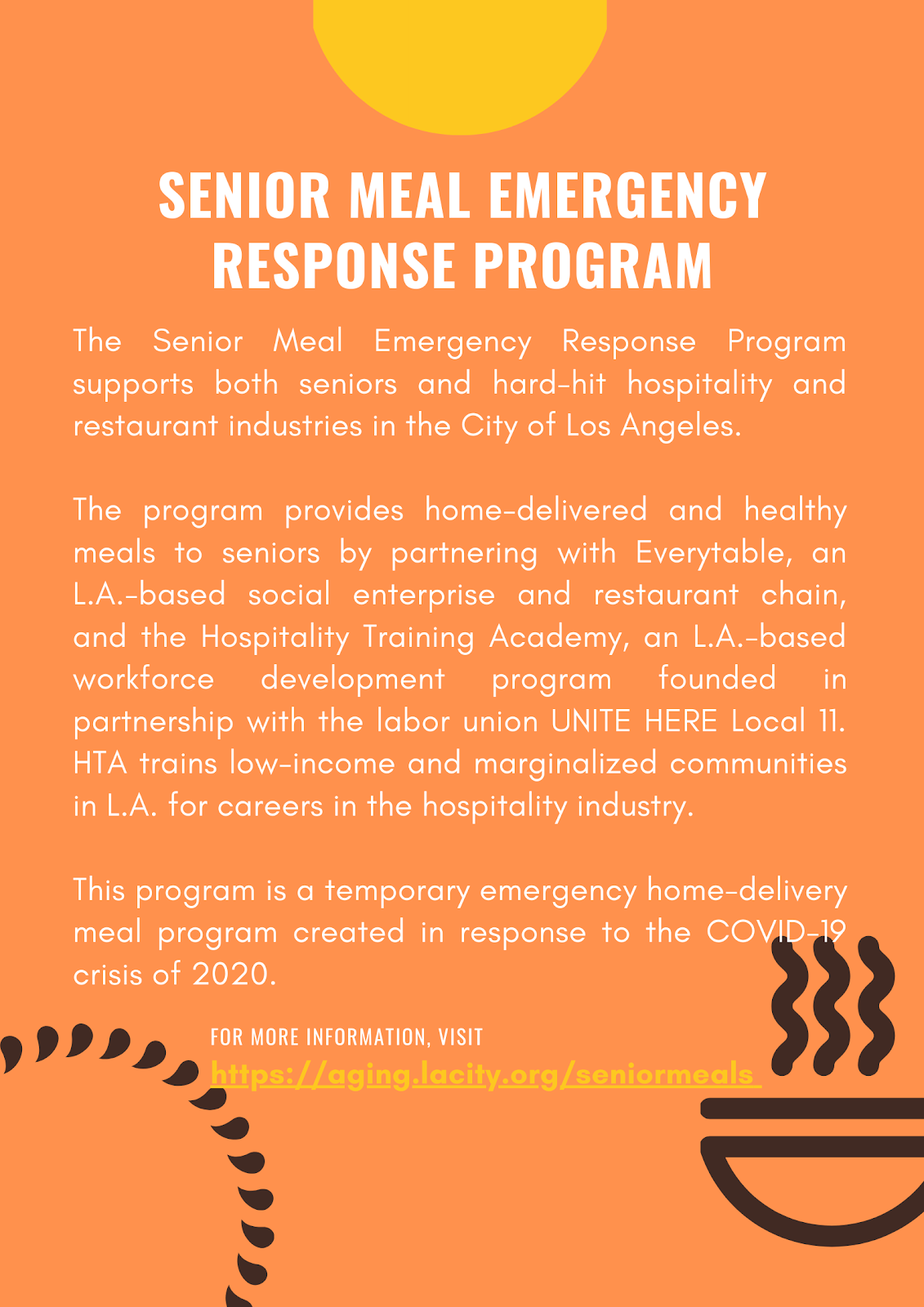 Sr Meal Emergency Resource Program Info Flyer