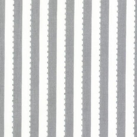 Grå Randigt tyg med silverprickar (16516)