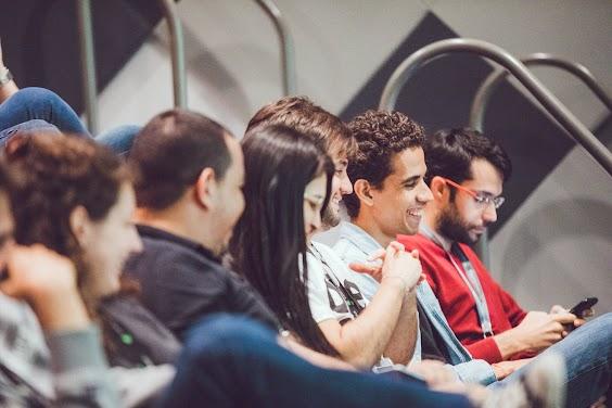 team members enjoying a seminar