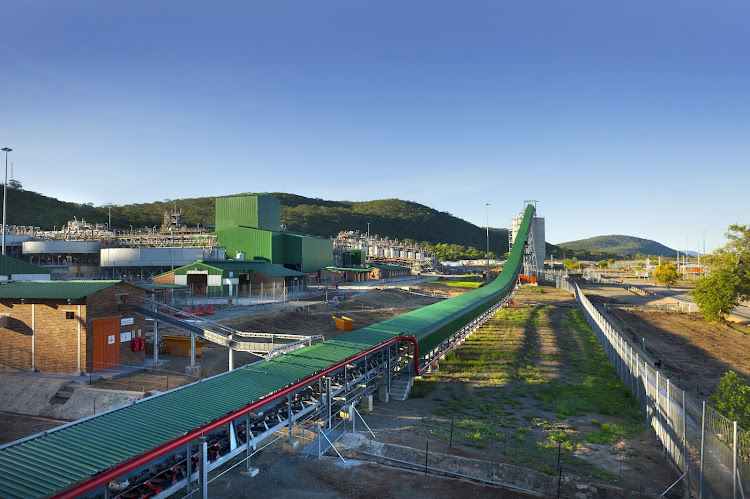 The concentrator plant at at Anglo American Platinum's Unki mine in Zimbabwe. Picture: SUPPLIED