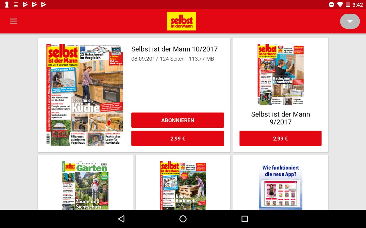 selbst ist der mann epaper do it yourself android apps on google play. Black Bedroom Furniture Sets. Home Design Ideas