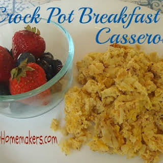 Breakfast Crock Pot Casserole.