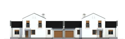 Kasjopea z garażem 1-st. bliźniak A-BL1 - Elewacja przednia