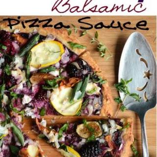 Blackberry Balsamic Pizza Sauce with Garden Veggies