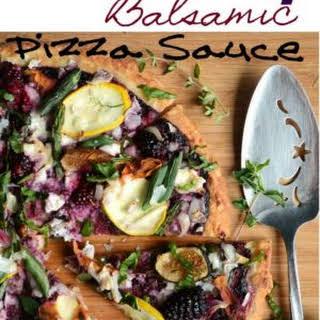 Blackberry Balsamic Pizza Sauce with Garden Veggies.