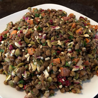 Lentil and Roast Sweet Potato Salad with Maple Vinaigrette Recipe