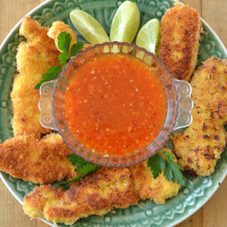 Coconut Chicken with Sweet Chili Dipping Sauce.