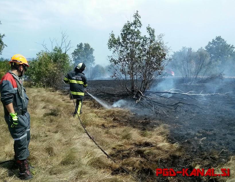 PGD Kanal - Požar na Krasu, 6.8.2017