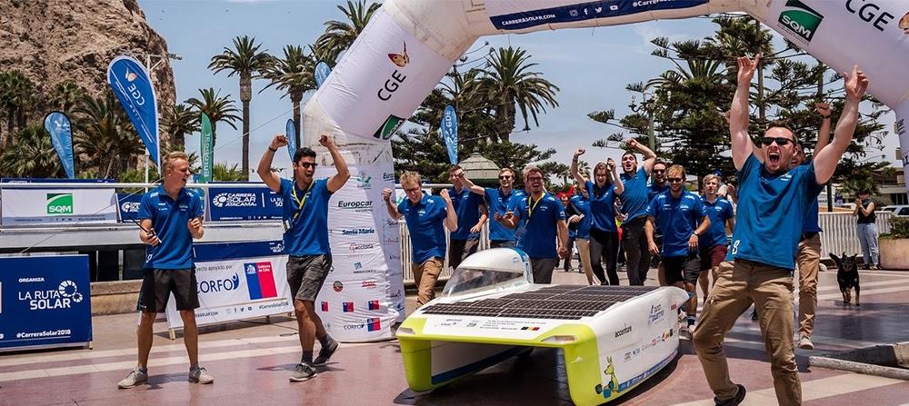 ANSYS - Победа Punch Powertrain Solar Team на чемпионате Carrera Solar Atacama в Чили, 2018 год (все фотографии – © Geert vanden Wijngaert)