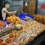 fried street food at the Shilin night market in Taipei in Taipei, T'ai-pei county, Taiwan