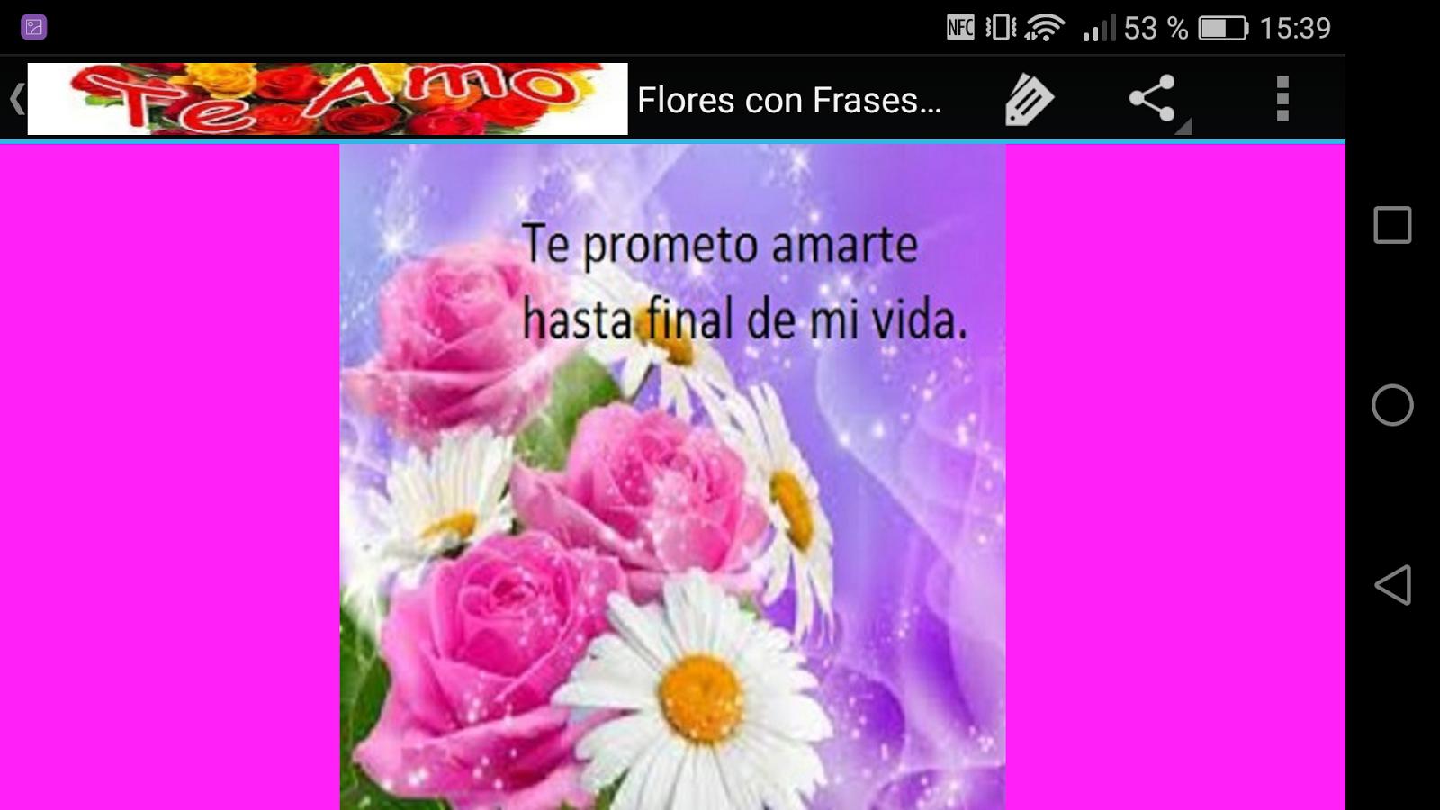 Flores con Frases de Amor screenshot