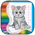 ColorPick - Kitten and Dog Coloring Book icon