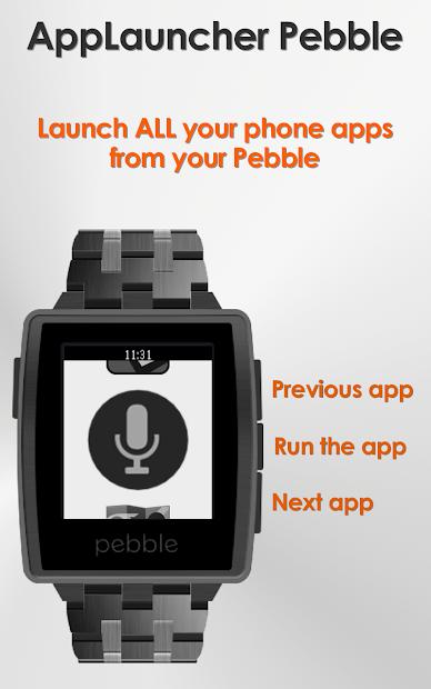 AppLauncher for Pebble Android App Screenshot