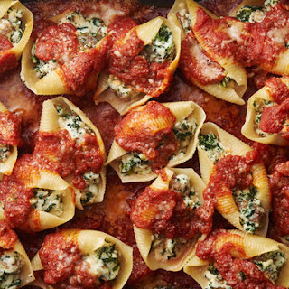 Sausage, Spinach and Cheese Stuffed Shells.