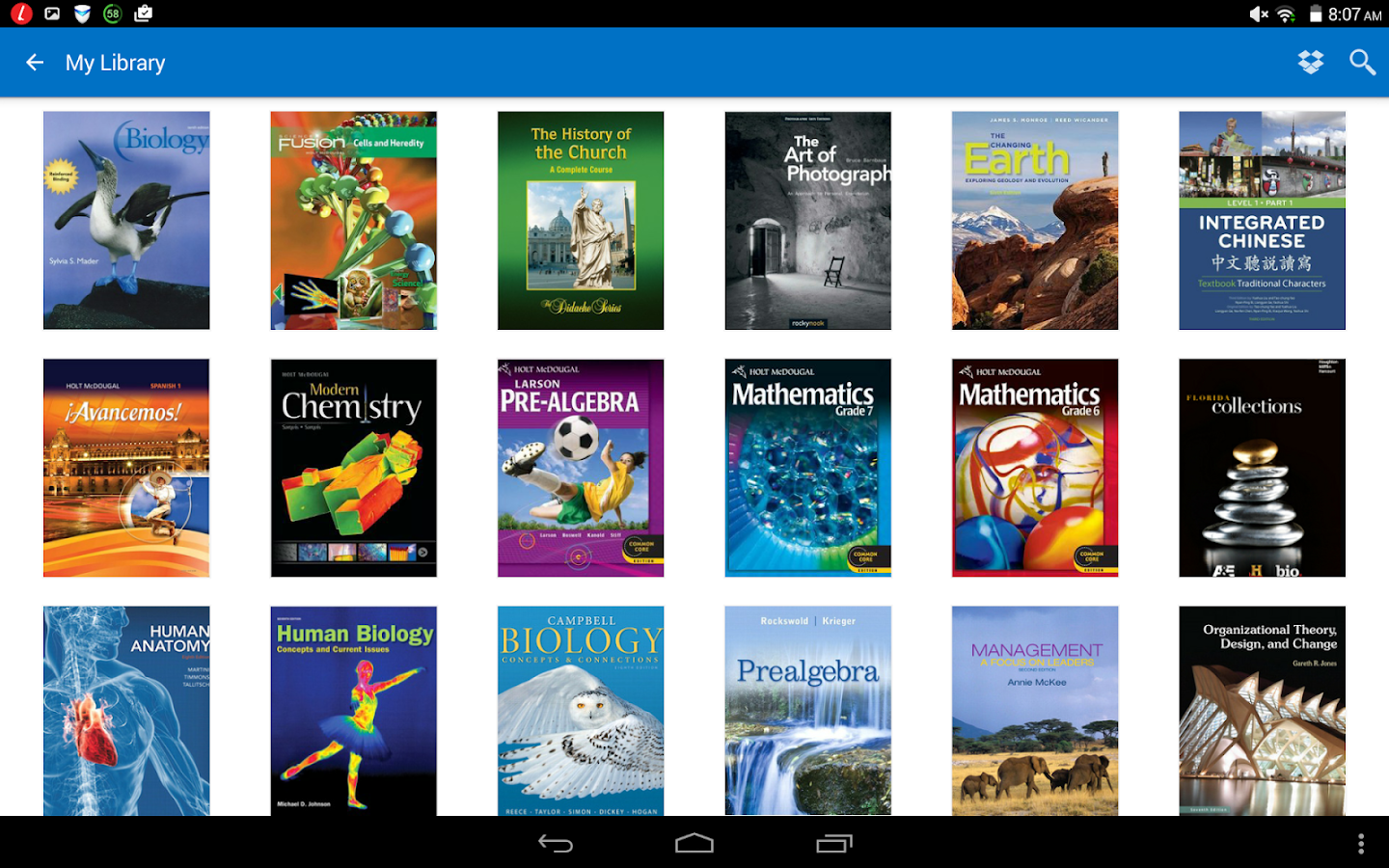 Intel® Education Study App- screenshot