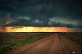 """Photo: """"Dirt Roads & Severe Thunderstorms""""  It is severe storm season in Colorado and that means awesome photo opportunities! Yesterday myself and +David Kingham decided to go storm chasing in BFE southeast Colorado. Let me tell you guys, there is a LOT of nothing out here at all and I mean nothing....you can see as far as possible. This was shot around the Comanche National Grasslands and unknown to us at the time, tornado warned. We debated about driving into it but thought the wiser of it as Dave's data signal pretty much went adios with no coverage. Not uncommon way out here. It's a good thing we didn't...high precip cells are a pain and dangerous unless you know what you are driving into first. I wimped out with this shot as I was just saying to David, """"I am not getting out of the car to shoot this, lightning scares the heck out of me"""". Not 30 seconds later it was cracking right above us. A lot fun and what an awesome time!  #cowx #weather #weatherphotos #hdrphotography #HDR #nature #naturephotography #natureartthursday #sky #ruralthursday #travelthursday #landscape #landscapephoto #Colorado"""