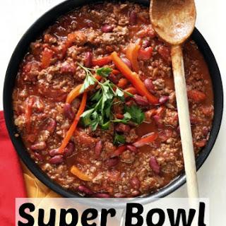Superbowl Crockpot Chili.