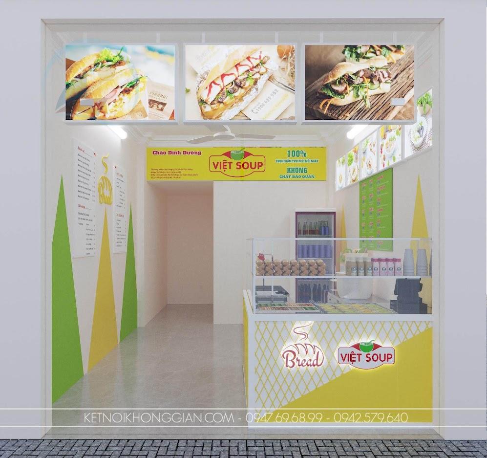 thiết kế quán cháo dinh dưỡng