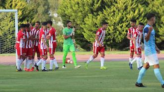 La primera celebración de la pretemporada ha sido con un gol de Álvaro.