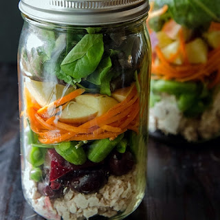 Mason Jar Loaded Tuna Salad