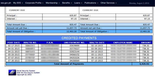 How to check SSS salary loan balance online step 7