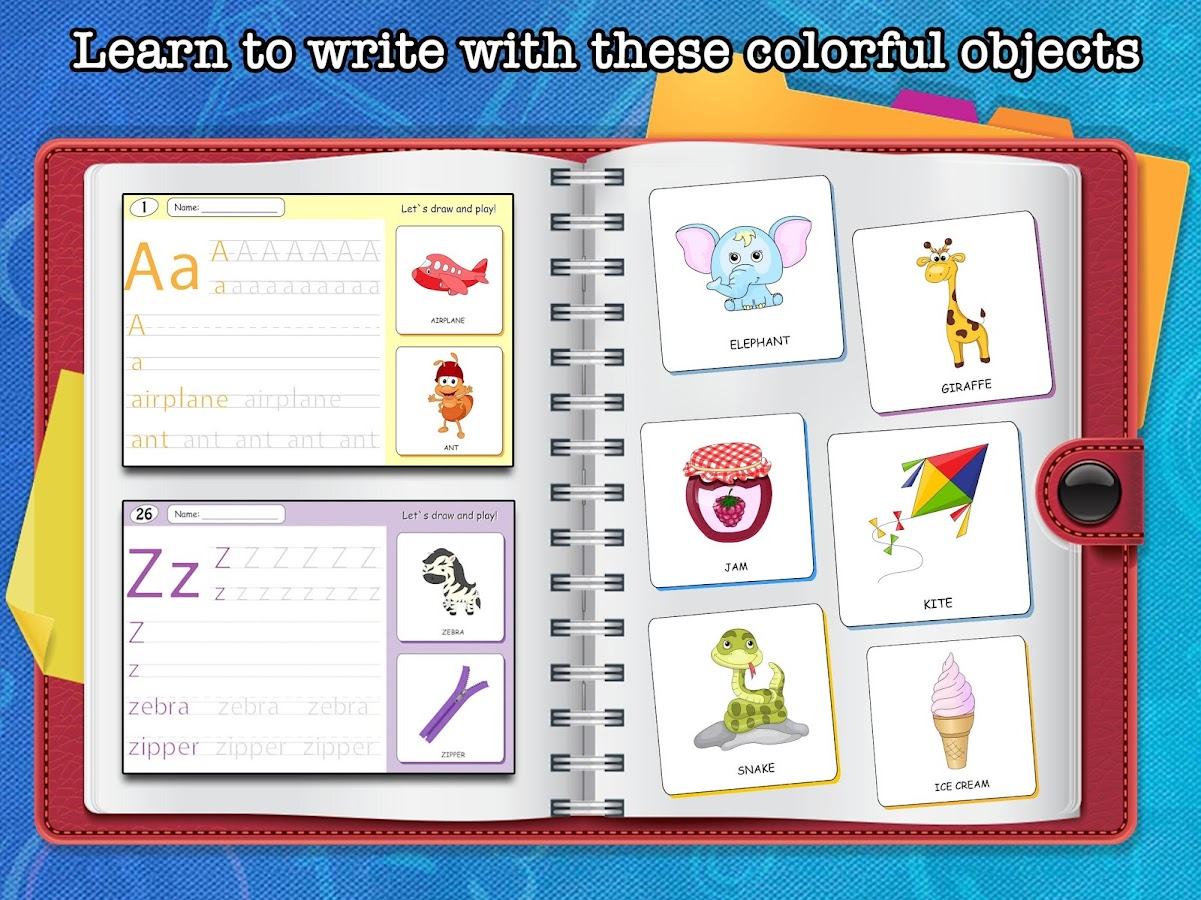 eduland tracing abc worksheets for toddlers android apps on