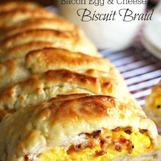 Bacon Egg and Cheese Biscuit Braid Recipe