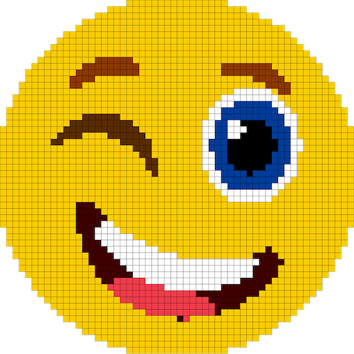 Emoji Color By Number Pixel Art Sandbox Coloring