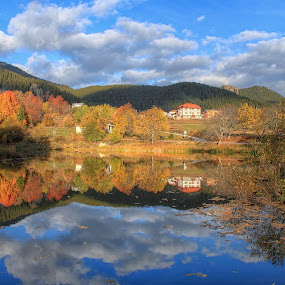 reflections by Mehmed Mestanov - Landscapes Waterscapes ( water, sky, autumn, reflections, lake )