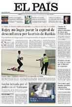 Photo: Rajoy no lograr para la espiral de desconfianza por la crisis de Bankia, cientos de ciudadanos piden la dimisión de Dívar y lucha larvada por el poder en el Vaticano, en la portada de este martes 29 de mayo http://srv00.epimg.net/pdf/elpais/1aPagina/2012/05/ep-20120529.pdf