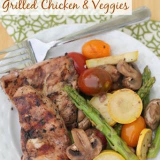 Red Wine Marinated Grilled Chicken & Veggies