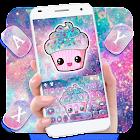 Galaxy Candy Cupcake Tema de teclado icon