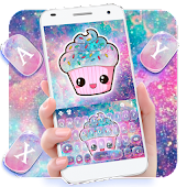Galaxy Candy Cupcake Keyboard Theme