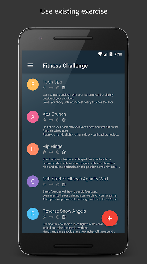 Fitness  Challenge- screenshot