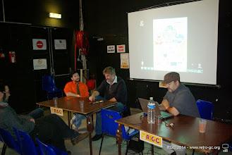 Photo: Dimanche, suite du débat sur le jeu vidéo en présence de JM Destroy et Douglas Alves.