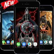 Grim Reaper Clock Live Wallpaper HD