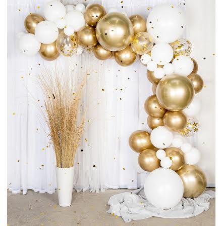 Ballongbåge - Guld/Chrome