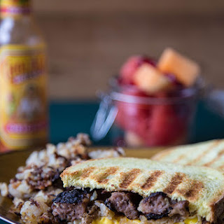 Hash Brown + Sausage Breakfast Panini.