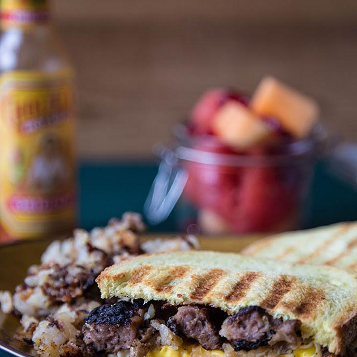 Hash Brown + Sausage Breakfast Panini Recipe