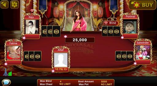 Universal Teen Patti - Indian Poker Game  captures d'u00e9cran 13