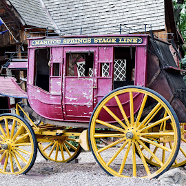 Pink Stagecoach by Deborah Lucia - Artistic Objects Other Objects ( stagecoach, vintage, pink )
